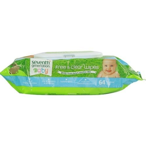 Seventh Generation Free and Clear Wipes Unscented - 64 Wipes [1 Pack]