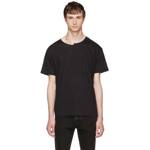 VALENTINO Black Pin Necklace Punk T-Shirt