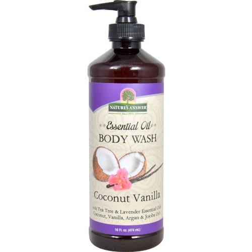 Nature's Answer Essential Oil Body Wash Coconut Vanilla -- 16 fl oz