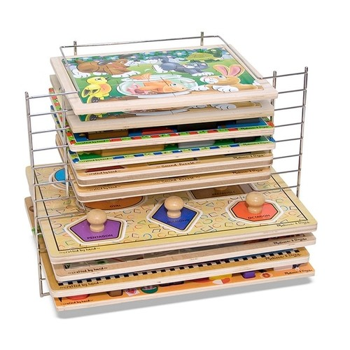 Melissa & Doug Play Sets Deluxe Wire Puzzle Rack