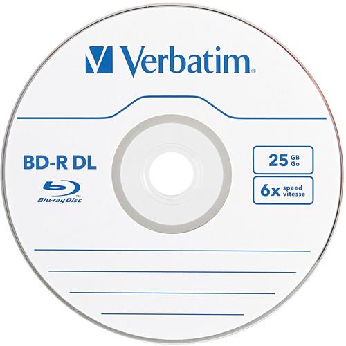 Verbatim BD-R DL 50GB 6x Spindle Box, 10pk