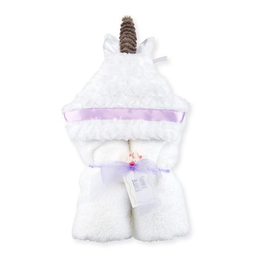 Unicorn Hooded Towel, White