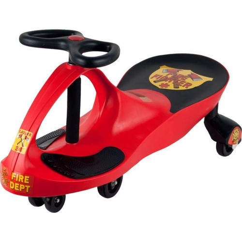Ride on Toy, Fire Truck Ride on Wiggle Car by Lil' Rider - Ride on Toys for Boys and Girls, 2 Year Old And Up - Hot Pink [Fire Truck]