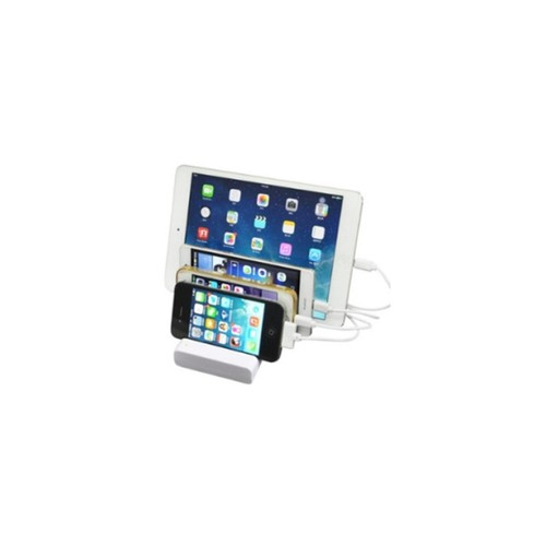 SODIAL Multi-function tablet cell phone base bracket multi-channel design universal charging for cell phone, IPAD ect tablet(white)