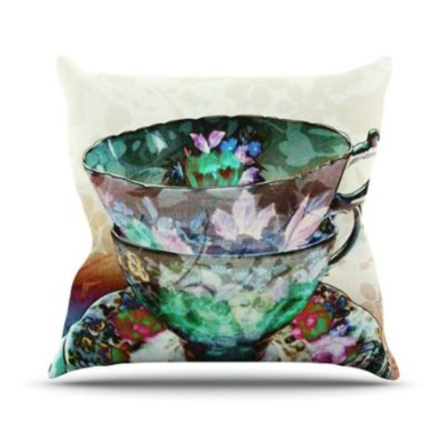 KESS InHouse Mad Hatters T-Party III by alyZen Moonshadow Abstract Throw Pillow
