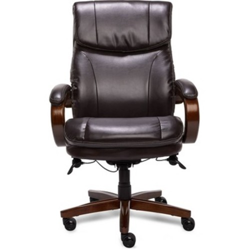 La-Z Boy - Big & Tall Air Bonded Leather Executive Chair - Vino Brown