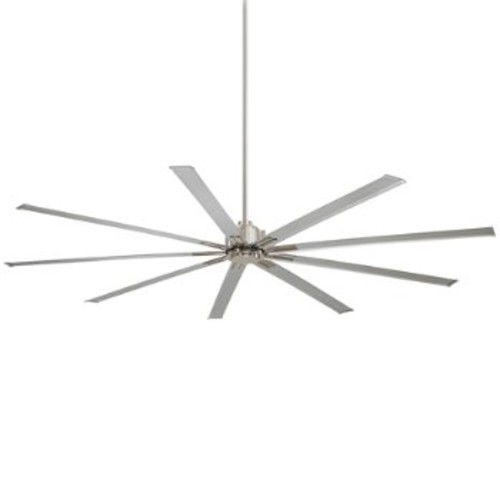 Xtreme Ceiling Fan [Fan Blade Span (inches) : 72; Fan Body and Blade Finish : Brushed Nickel with Silver Blades]