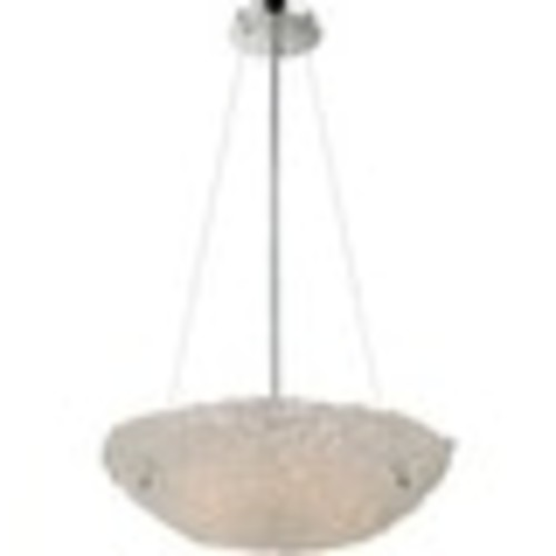 Platinum PCVN2820 Vision 5 Light Bowl Pendant with Glass Shade