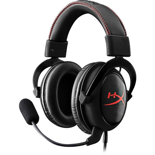 HyperX - Cloud Core Wired Gaming Headset for Playstation 4 and PC - Black/Red