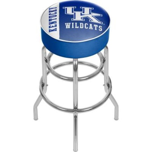 Trademark University of Kentucky Text 31 in. Chrome Padded Bar Stool