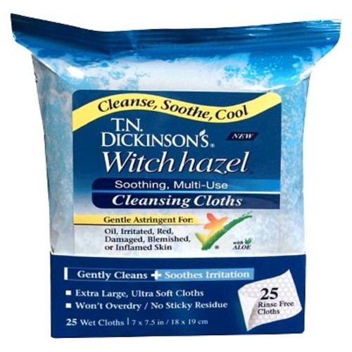 T.N. Dickinson's Witch Hazel Cleansing Cloths - 25 CT