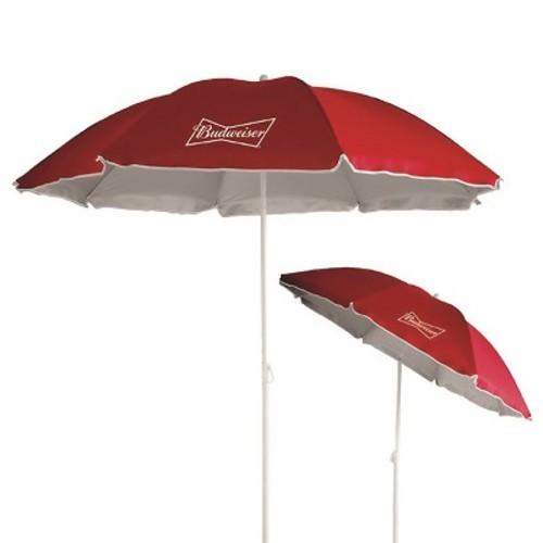 Anheuser-Busch 6' Beach Umbrella with UV Protection - Red