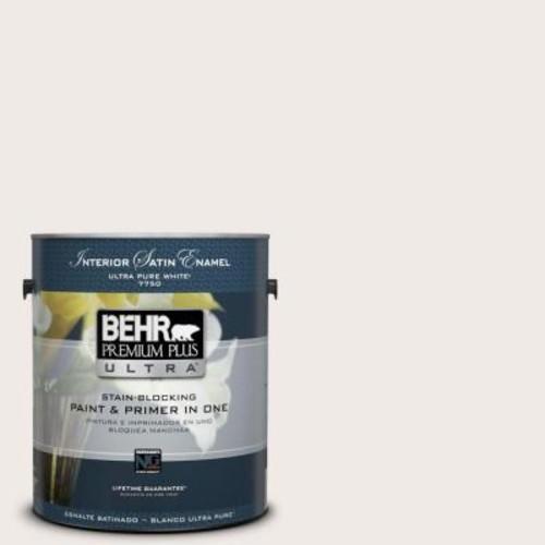 BEHR Premium Plus Ultra 1 gal. #720A-1 Phantom Mist Satin Enamel Interior Paint and Primer in One