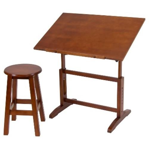 Creative Table and Stool Set - Walnut