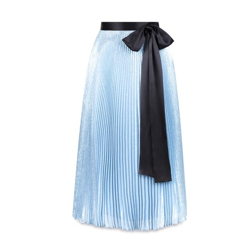 CHRISTOPHER KANE Lame Skirt With Bow