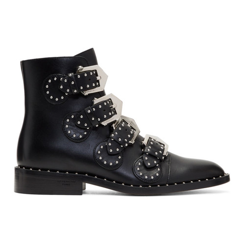 GIVENCHY Black Studded Elegant Boots