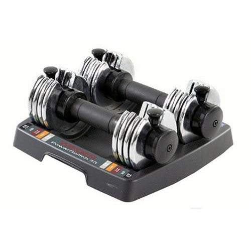Weider Speed Weight Adjustable Dumbbells - 2.5-12.5 lbs. [Silver, 2.5]