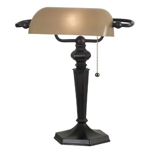Kenroy Home 20610ORB Chesapeake Banker Lamp, Oil Rubbed Bronze [Bronze]