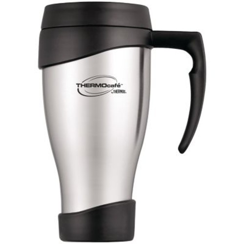 Thermos Cafe 24 oz. Stainless Steel Travel Mug, Black/Silver