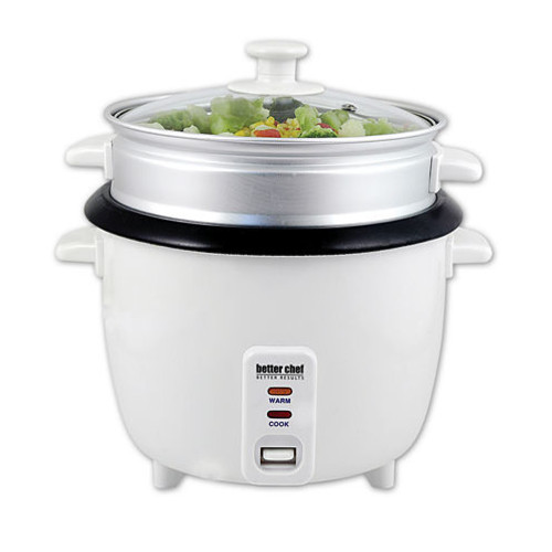 Better Chef 5-Cup Rice Cooker with Food Steamer