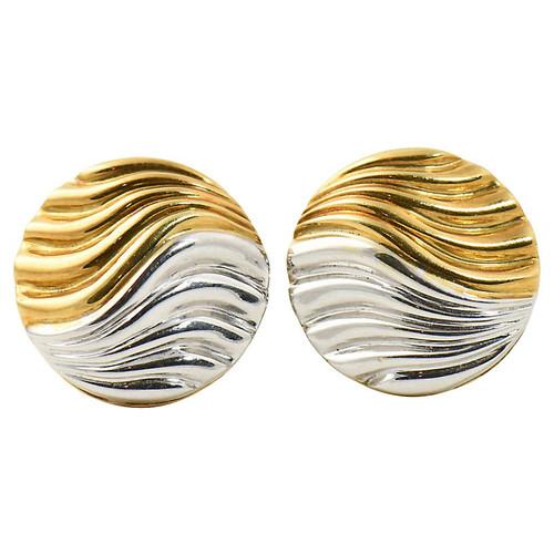 Neiman Marcus Two-Tone Gold Earrings