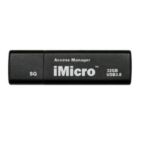 iMicro 32GB USB 3.0 Password Protection Flash Drive Grade, Sliver & Black(MBIM-SG32GBB)