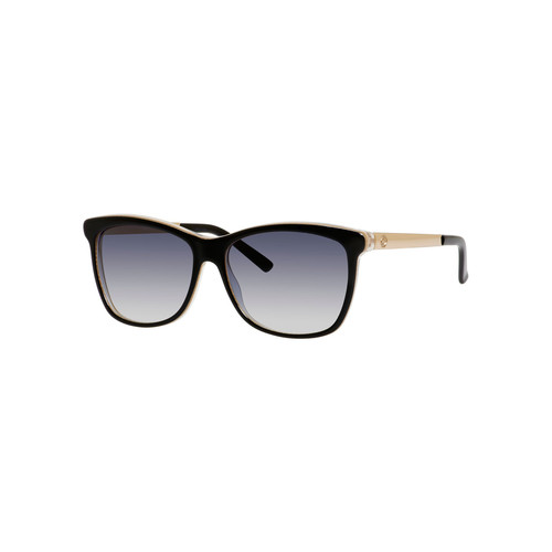 GUCCI Squared Cat-Eye Sunglasses, Black/Blue