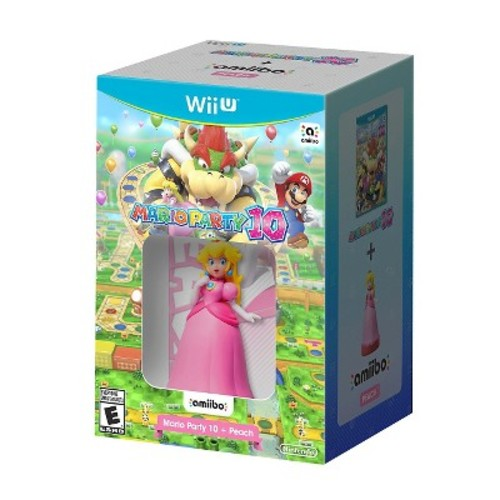 WiiU Mario Party 10 + Peach Amiibo
