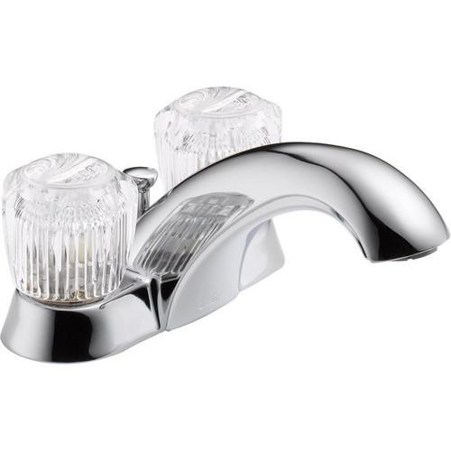 Delta 2522LF Two Handle Low Lead Lavatory Faucet, Chrome