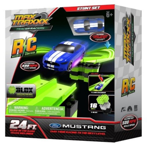 Max Traxxx Tracer Racers RC Mustang Stunt Set