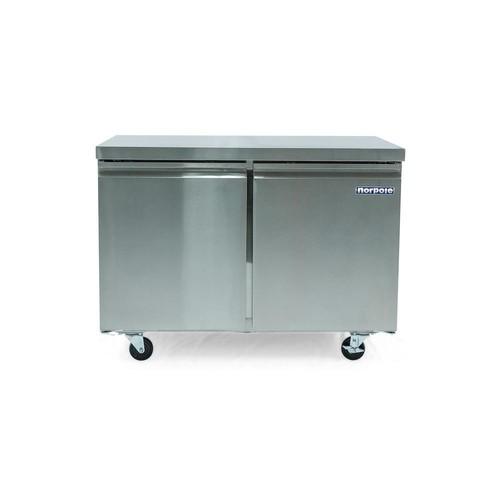 Norpole 12 cu. ft. 2 Door Under Counter Refrigerator in Stainless Steel