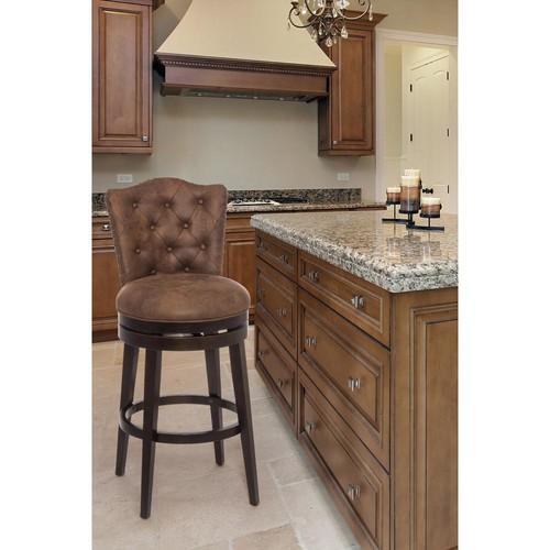 Hillsdale Furniture Edenwood 30 in. Chocolate Swivel Cushioned Bar Stool