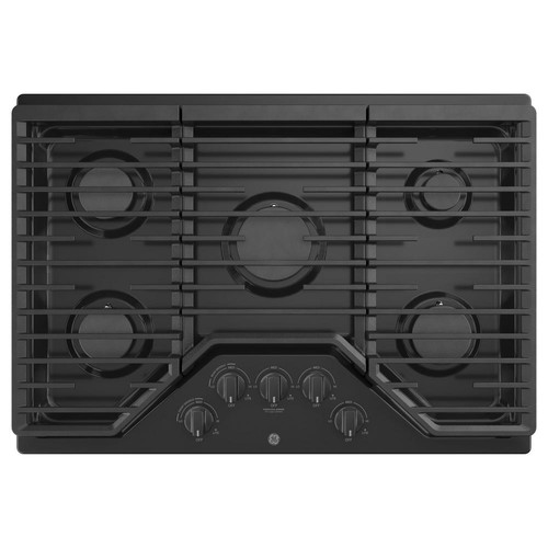 GE 30 in. Gas Cooktop in Black with 5-Burners including Power Burners