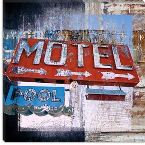 iCanvas ''Motel Pool'' by Luz Graphics Graphic Art on Canvas; 37'' H x 37'' W x 1.5'' D