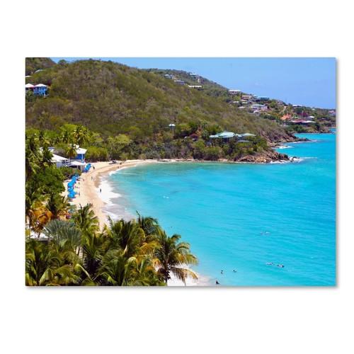 Trademark Fine Art CATeyes 'Virgin Islands 10' Canvas Art 14x19 Inches