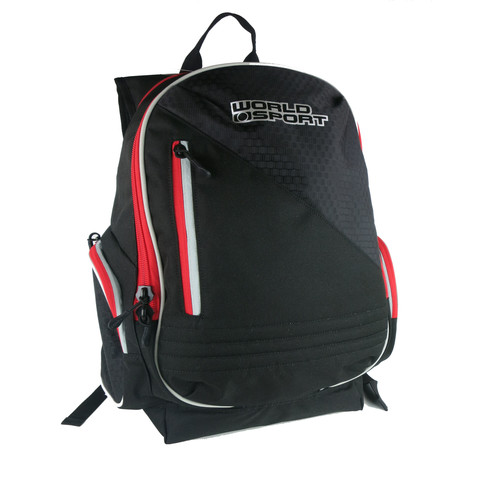 World Sport Backpack - Black/Red