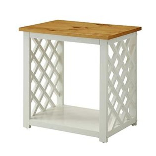Convenience Concepts Cape Cod End Table, White