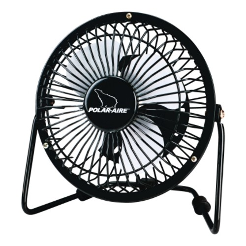 Polar Aire Floor Fan 4 in. H x 4 in. W 1 speed Electric Black(VF-4USB)