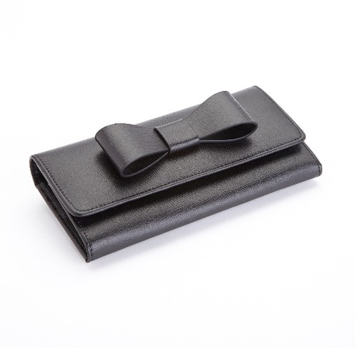 Royce Leather RFID Blocking Large Bow Wallet in Saffiano Leather