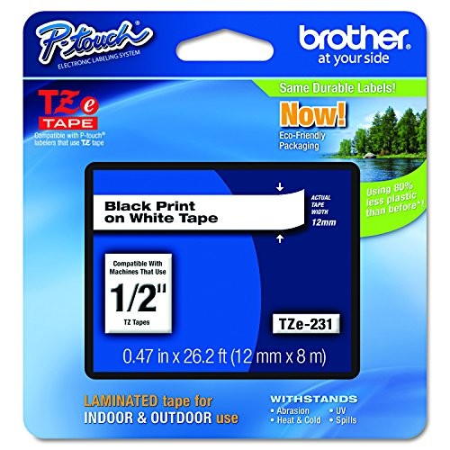 Brother P-touch TZe231, 1/2