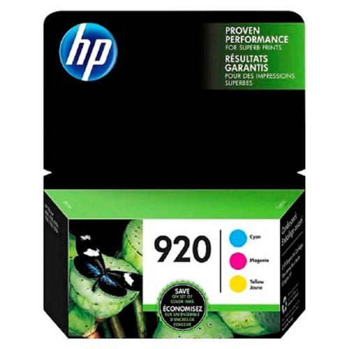HP 920 CMY Ink Cartridge Combo 3-Pack - Multicolored (N9H55FN#140)