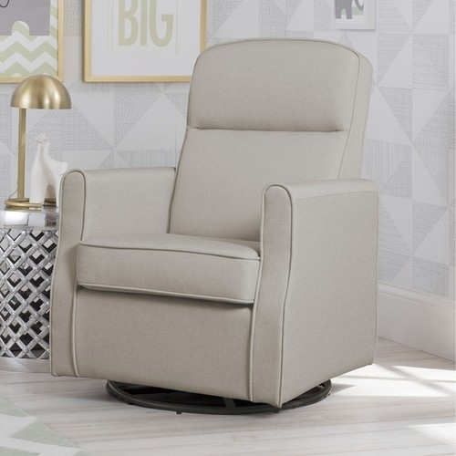 Delta Children Blair Taupe Slim Nursery Swivel Rocker Glider Chair