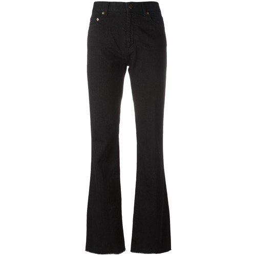 SAINT LAURENT Flared Raw Edge Jeans