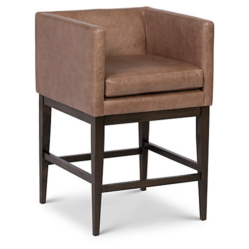 Finch Barstool, Pebble Leather