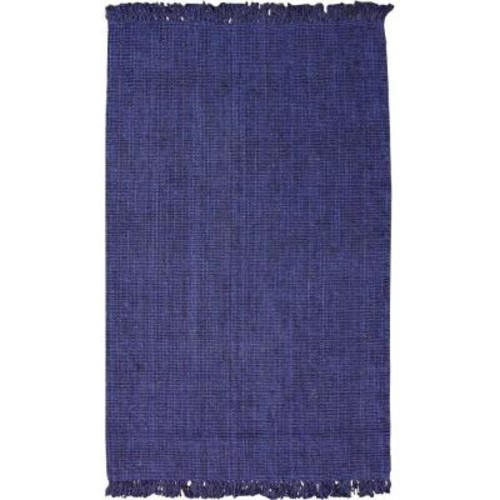 nuLOOM Chunky Loop Jute Navy Blue 4 ft. x 6 ft. Area Rug