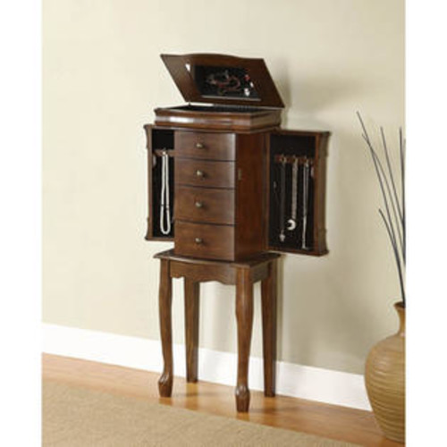 Powell Miscellaneous Jewelry Armoires Louis Philippe in Walnut Jewelry Armoire