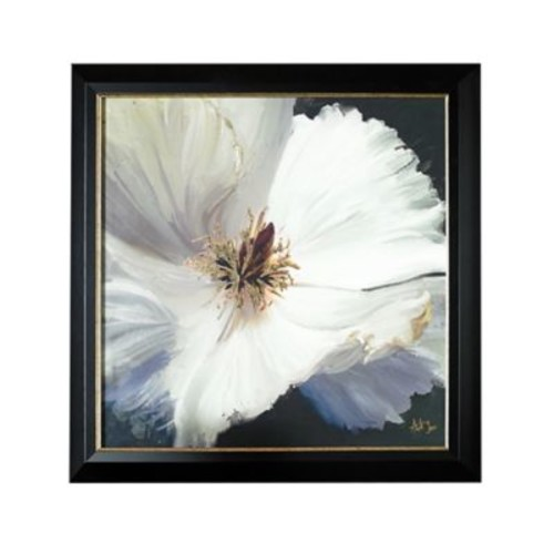 Glamour Floral 31-Inch x 31-Inch Metallic Framed Print
