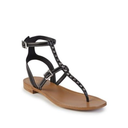 PRADA Studded Leather Thong Sandals