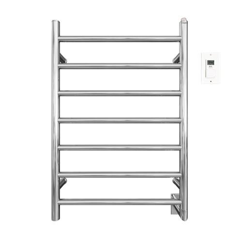 Ancona Comfort 7/31 in. Hardwired Electric Towel Warmer and Drying Rack in Chrome with Timer