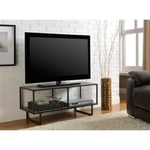 Baxton Studio TV Stands & Entertainment Centers Xavier Modern Brown MDF/ Steel TV Stand